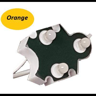 Chaine de 100 modules Orange Trio-point étanche IP65 12v 5mm