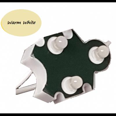 Chaine de 100 modules Trio-point Blanc Chaud 3000k étanche IP65 12v
