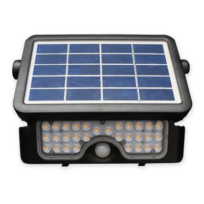 Projecteur Solaire LED 10W 1080LM 4000K blanc brillant IP65 avec détecteur IR