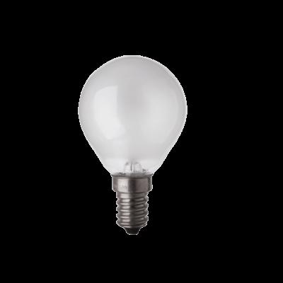 Ampoule sphérique Philips/Mazda 60w E14 230v blanc chaud Dépolie