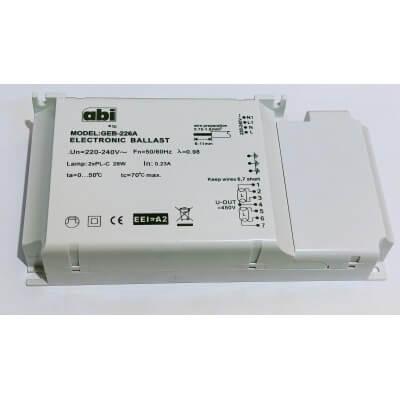ABI BALLAST ELECTRONIQUE 2X26W lampe G24q,GX24q PL-C ou PL-T