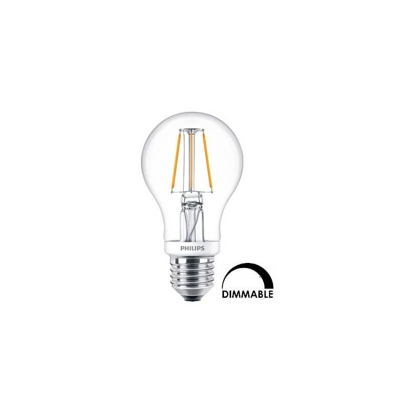 Ampoule LEDbulb Philips Standart A60 4.5W substitut 40W 470 lumens  Blanc chaud 2700 K Dimmable E27