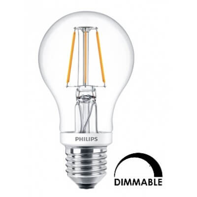 Philips LEDBulb D 4.5-40W A60 E27 827 Dimmable 470lm  CL