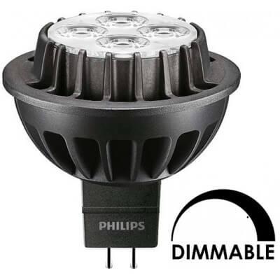 Ampoule LEDspot Philips MR16 8.0W substitut 50W 660 lumens blanc neutre 3000K dimmable MR16
