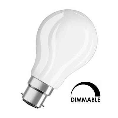Lampe Osram LED 7W substitut 60W 827 Blanc chaud B22 dimmable 806lm