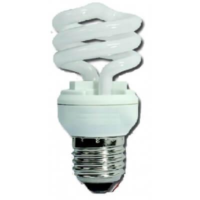 Lampe economique forme spirale E27 9w/840 blanche