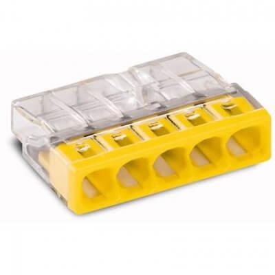 Boite de 100 wago 2273-205 borne de raccordement 5 entrées  0.5-2.5mm²