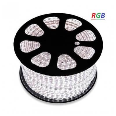 Bobine 50m LED RGB  230V étanche IP65 60LED par mètre
