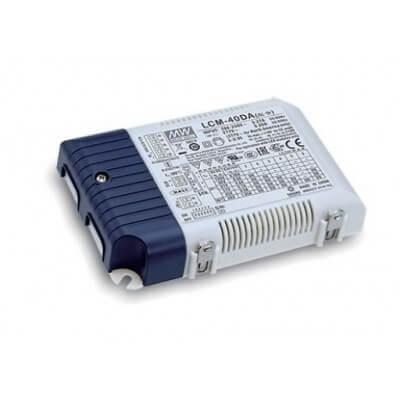 Alimentation LED MeanWell LCM-40DA DALI, 40W 350-1050mA  IP20