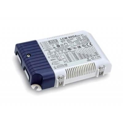 Alimentation LED Mean well LCM-60DA,DALI 60W 42-90V 0.5-1.4A IP20