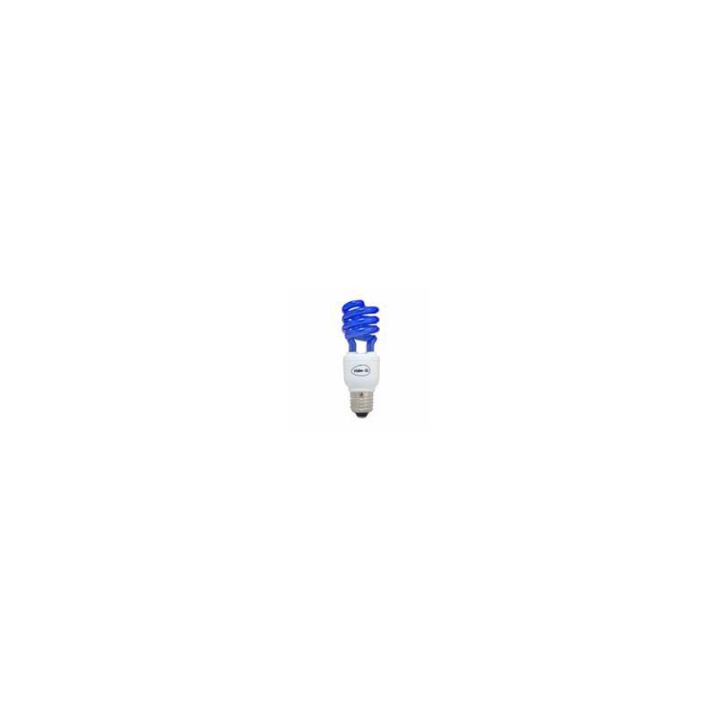 Lampe fluocompact spirale couleur bleue E27 15w
