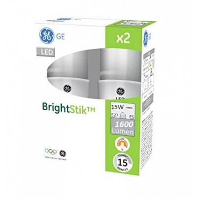 GE LED BrightStik 830 Blanc chaud  15W 100W E27 240D 15 000h vendu par 2