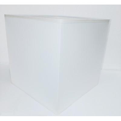 Abat jour Blanc carrée en tissue pour luminaire à douille E27 1M0426AF