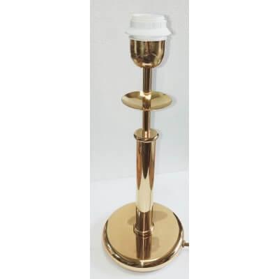 Luminaire Augusta doré brillant à poser, Culot E27 60W max 230V 50hz