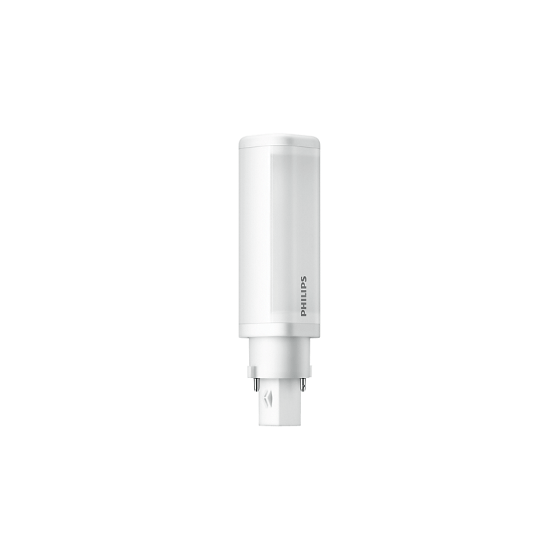 Ampoule LED Philips Tubulaire 4.5W substitut 10-13W 500 lumens Blanc froid 4000K G24D-1