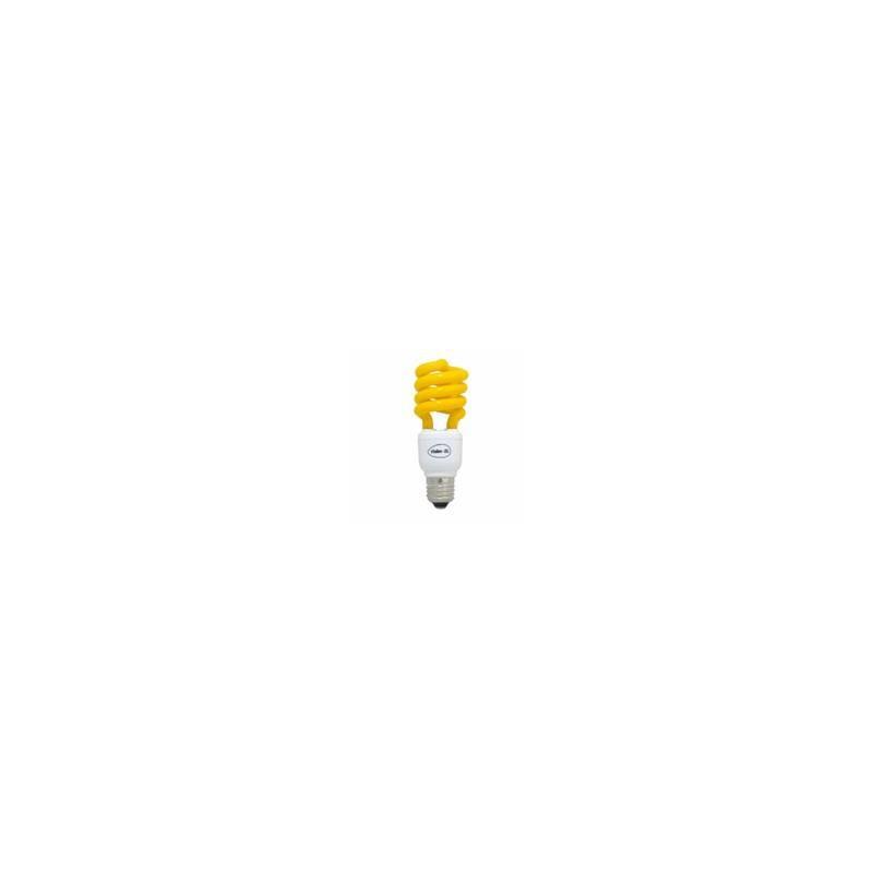 Lampe a économie d'energie spirale couleur jaune E27 15w