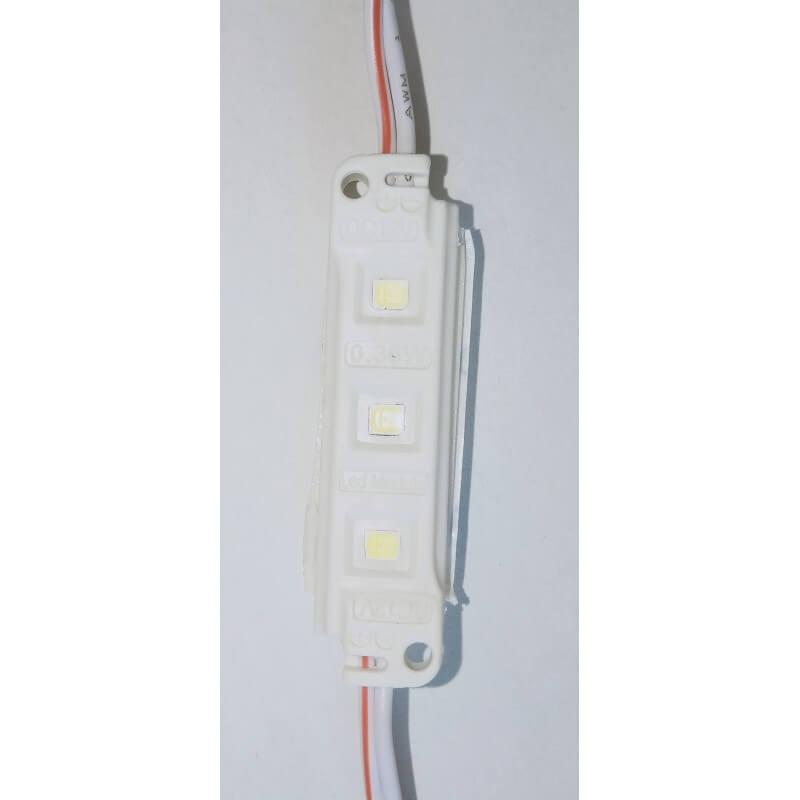 Chaîne de 30 Modules LED 0.36W 12V 6500K Blanc lumière du jour  IP65 étanche