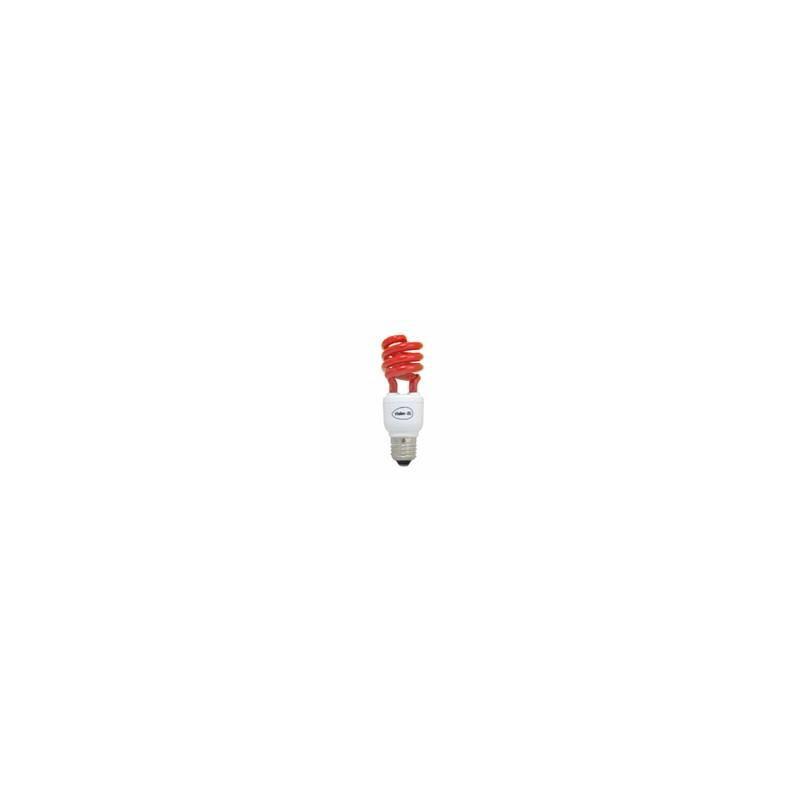 Lampe économique forme spirale E27 15 couleur rouge