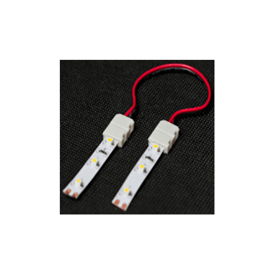 Double connecteur double face pour ruban LED de 10mm avec câble