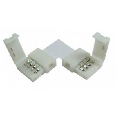 Connecteur angle droit click-10L-RGB pour ruban led muti-couleurs de 10mm