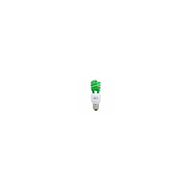 Lampe fluocompact spirale couleur verte E27 15w