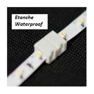 Click-8C-WP Connecteur double Étanche pour ruban LED de 8 mm