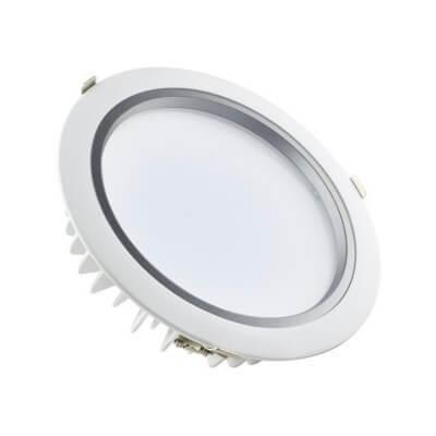 Downlight encastrable  265V 30W 2400lm 4000K Blanc froid diam de percage 200mm