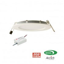 Panel LED Meanwell extra plat driver 10W 2700K Blanc chaud 950 lumens diamètre de perçage 135mm