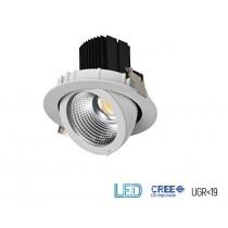 Projecteur Encastrable LED Techno 30W Blanc 4000K 3000 lumens IP20 IK08 diamètre de perçage 140mm