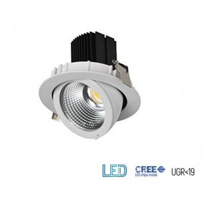 Projecteur Encastrable LED Techno 30W Blanc 4000K 3000lm IP20 IK08