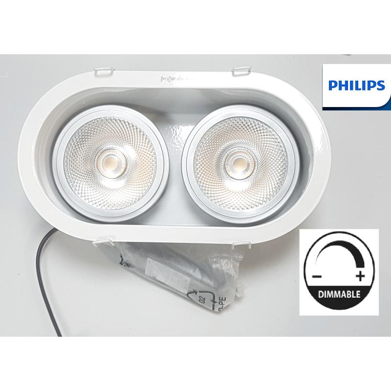 Kit Philips Encastrable Orientable 2 15w Ar111 Blanc Chaud 12v D