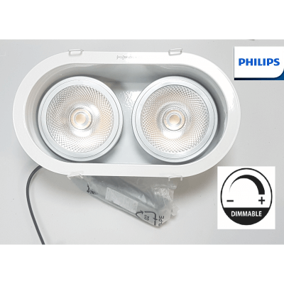 PHILIPS Encastrabe LED AR111 2*15W 2700k Blanc chaud 40° Dimmable 12V