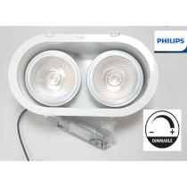 PHILIPS Encastrable LED AR111 2*15W 3000k Blanc  810 lm par lampe Dimmable diamètre de perçage 115mm
