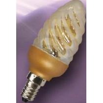 Lampe economique torsadée E14 7w/840 dorée
