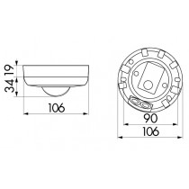 Dimensions du détecteur de mouvement Luxomat 92194
