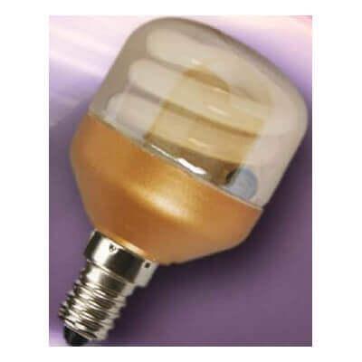 Lampe economique spherique dorée E14 7w/840