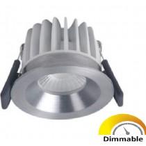 Spot LED DIM Ledvance fixe 8W/3000K 36D 620 lm alu brossé intérieur - 811294
