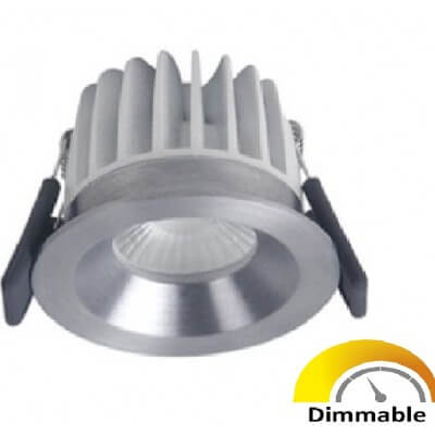 Spot LED DIM Ledvance fixe 8W/4000K 36D 670 lm alu brossé IP44 - 811317