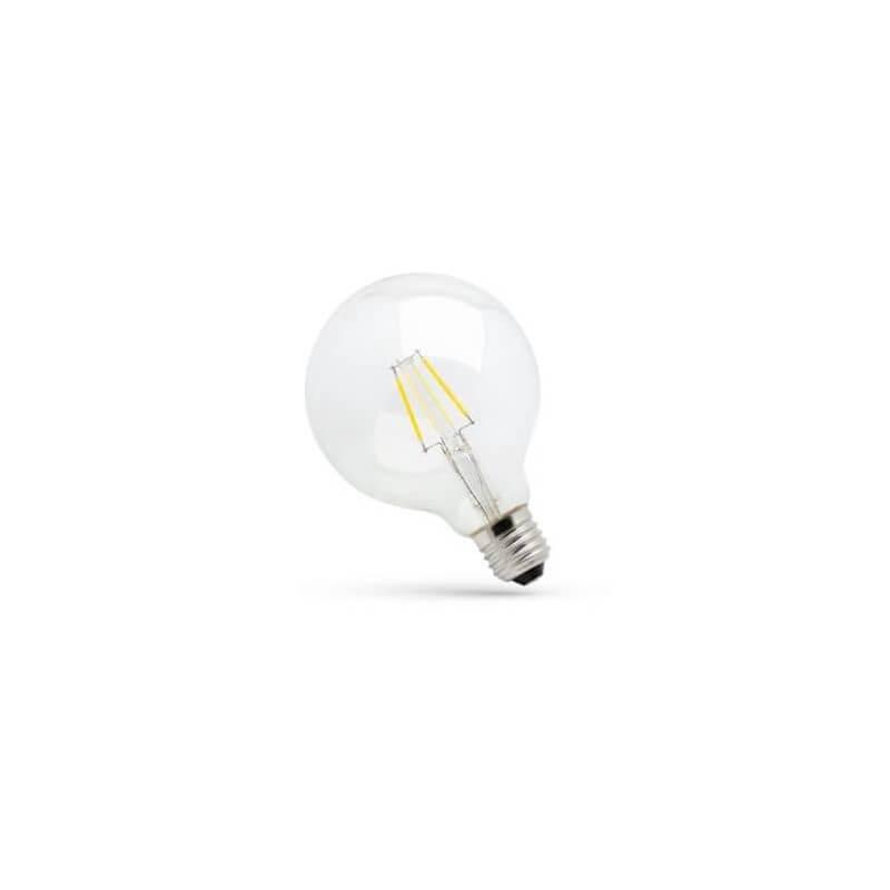 LED Spectrum à filament E27 8W/71W blanc chaud 1000lm Globe Premium Clear