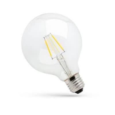 Globe LED à filament 8W substitut 71W blanc chaud 1000lm G120 E27