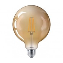 LED globe Philips Classic E27 8W 822 Dorée - Dimmable - Substitut 50W