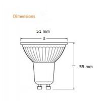 Lampe LED à réflecteur DIM 575lm PAR16 GU10 8W substitut 80W 36° 2700K