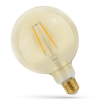 Lampe Led Globe Rétro Shine Gold verre ambre  2W-25W E27
