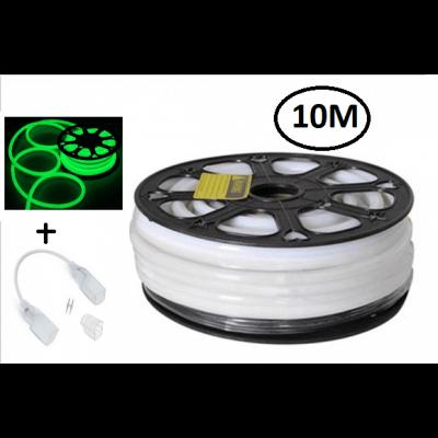 Bobine de 10M Neon Flexible Led VERT 80LED/métre IP44 étanche 24V