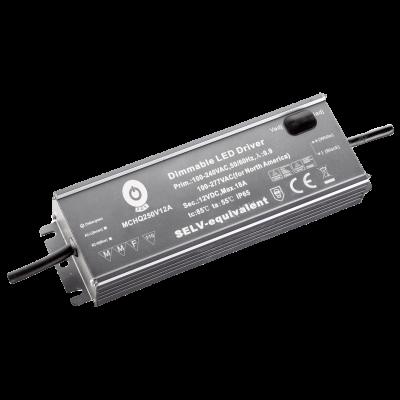 Alimentation LED métallique POS 216W 12V Dimmable Etanche IP65
