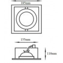 Spot encastrable Cardan pour lampe AR111 12v 50w