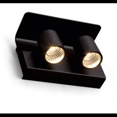 Applique liseuse LED noir Exenia lighting Pluriel wall 2*9w