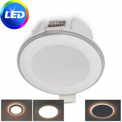 Spot encastrable LED HALO 5.5W 4000K Blanc froid 420lm 3 poisitions diam 65mm