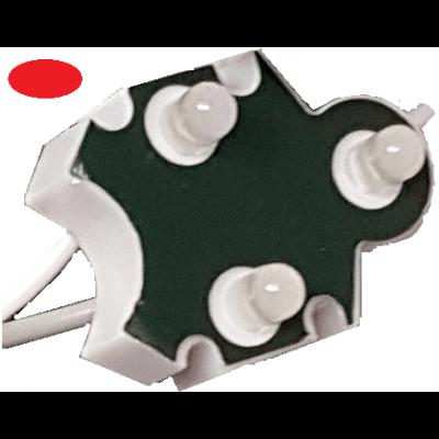 Chaine de 100 modules ROUGE Trio-point étanche IP65 12v 5mm