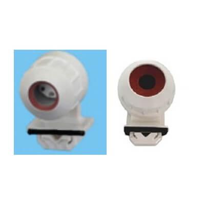 Douille pour tubes fluorescents T5 étanche IP54 à clipser